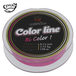 NYLON TRUITE PEZON & MICHEL E.VIVES COLOR LINE 100M  ROSE/BLANC