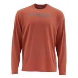 tee-shirt simms technique orange